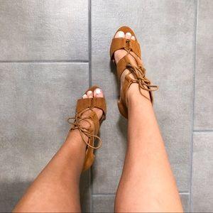 Brown Suede Heels 🍂